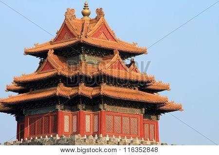 Jiaolou tower of Beijing palace