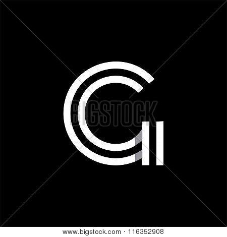 Capital letter G. Overlapping with shadows logo, monogram trendy design.