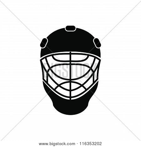 Goalkeeper hockey helmet icon