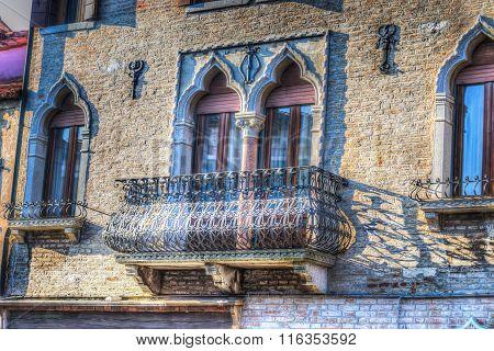 Old Balcony In Venice