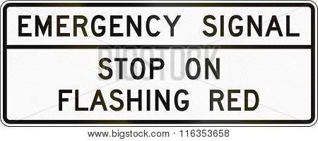 United States Mutcd Road Sign - Emergency Signal