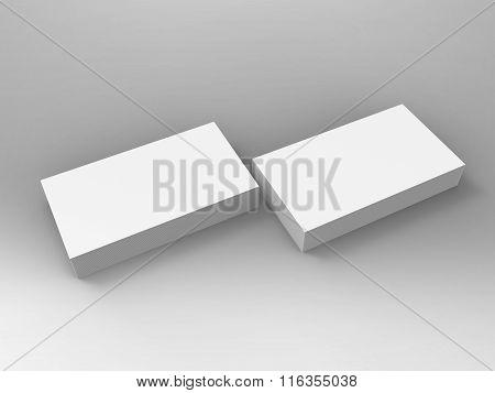 Branding Stationary 3D Render Business Card