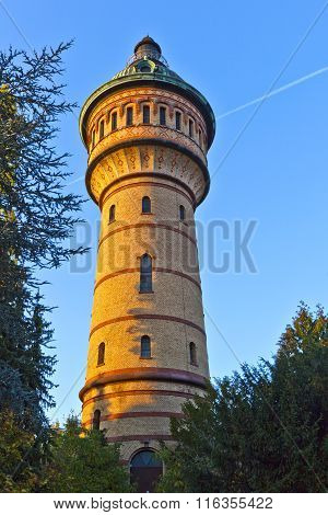 Famous Water Tower In Wiesbaden Biebrich