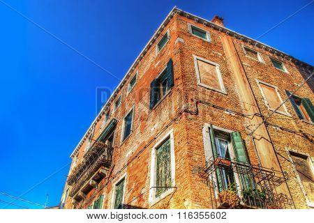 Orange Building With Brick Facades In Venice