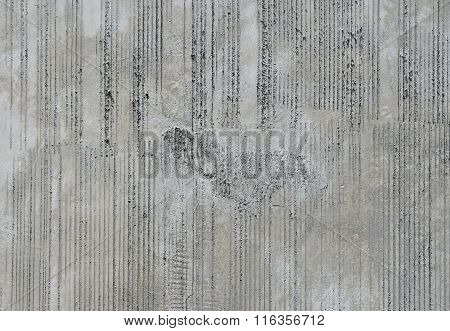 Concrete Wall With Traces From Rubbed Finish Processing