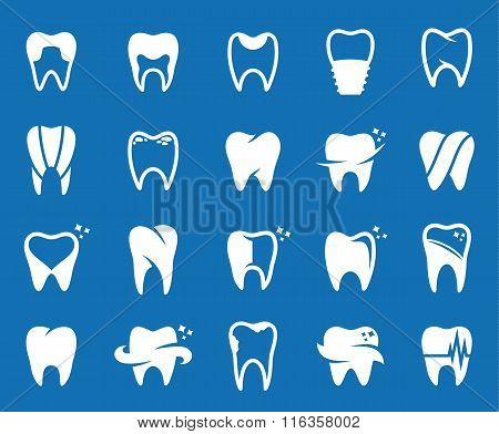 Vector Tooth Icons, Symbols And Design Elements