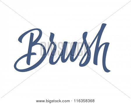 Brush handwritten lettering. Vector illustration