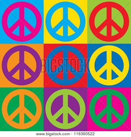 Pop Art Peace Symbols