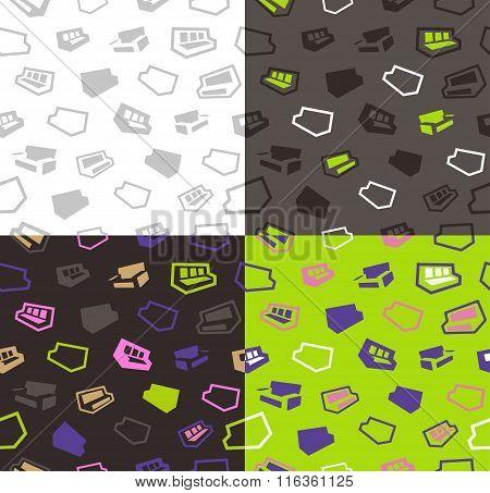 sofas seamless pattern background