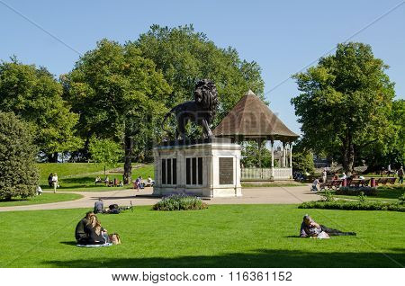 Forbury Gardens, Reading In Late Summer