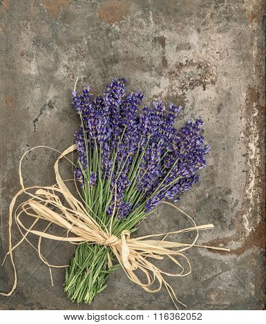 Lavender Flowers With Shabby Chic Style Decorations