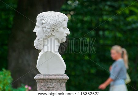 Saint-Petersburg. Russia. Janus with two Faces