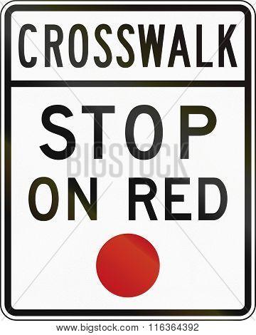United States Mutcd Road Sign - Crosswalk