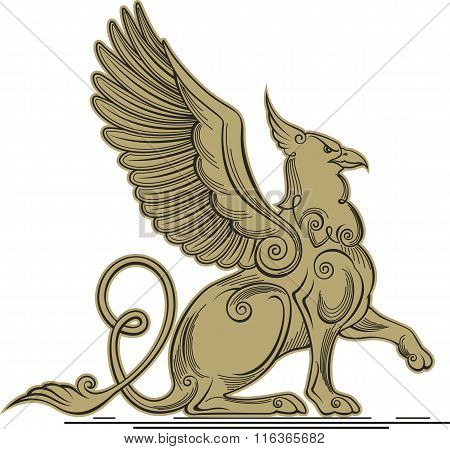 Griffin - A Mythical Creature With The Head, Claws And Wings Of An Eagle And A Lion's Body.