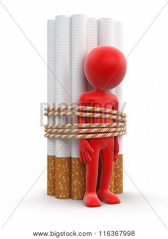 Man and Cigarettes. Image with clipping path