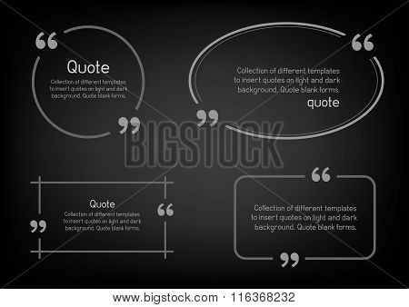 simple quote black background