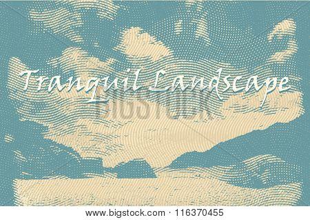 vintage style landscape background