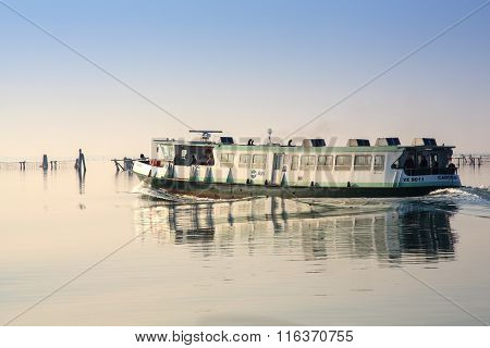 Ferry Boat In The Venice Lagoon