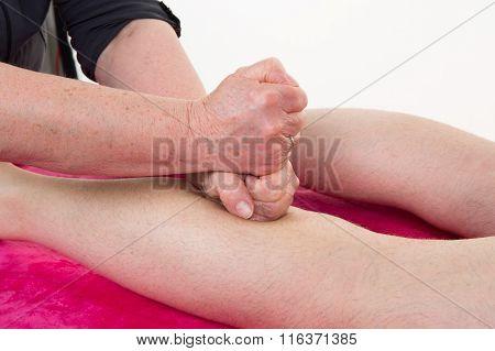 Reflexology Knee Massage, Spa Knee Treatment At Health Center