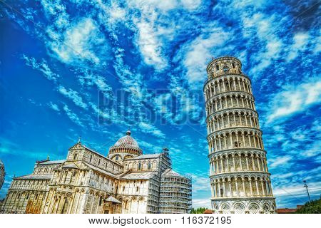 World Famous Piazza Dei Miracoli In Pisa