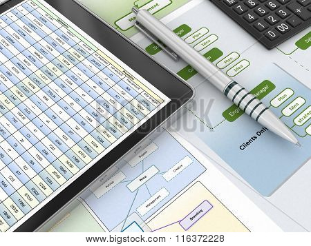 Financial report and digital tablet