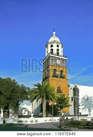 Belltower Of The Iglesia San Miguel In Teguise