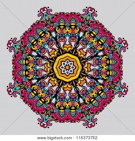 Circular Ornament . Vector