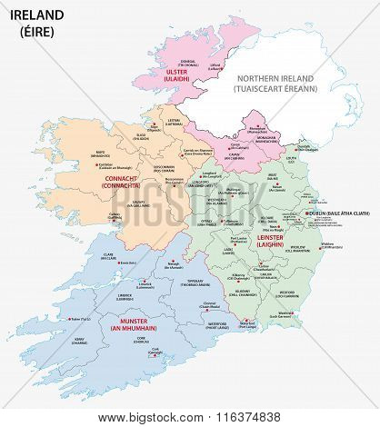 ireland administrative map