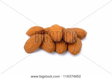 Fresh almonds isolated