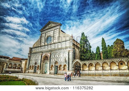 Front View Of Santa Maria Novella Cathedral