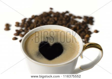 Cup Of Coffe With A Heart