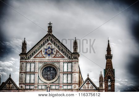 Santa Croce Front View Under A Dramatic Gray Sky