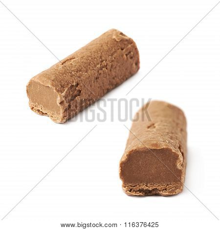 Chocolate praline candy isolated