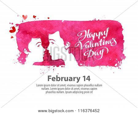 Happy Valentines day. Vector illustration
