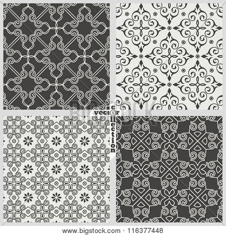 Vector Set Of Seamless Pattern