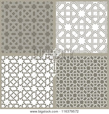 Vector Set Of Seamless Pattern