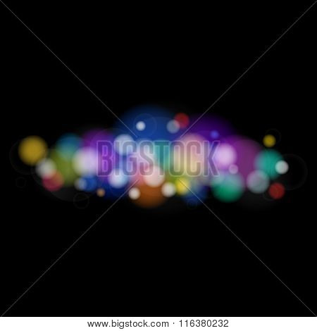 Bright Colored Lights on Black Background