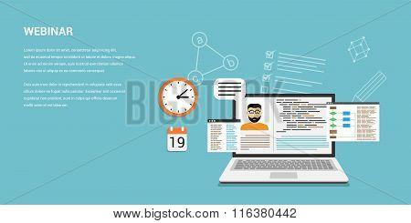 Online Webinar Concept Banner