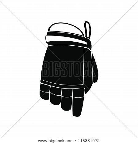 Hockey glove black simple icon