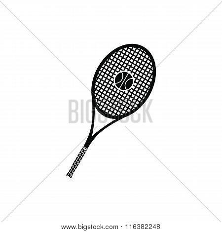 A tennis racquet and a ball icon