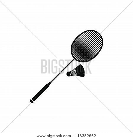 Badminton racket and shuttlecock icon