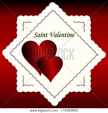 Valentines Day Design Background.