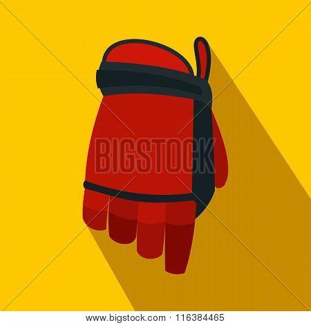 Hockey glove flat icon