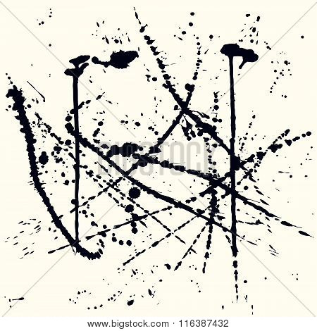 Abstract background with ink stains