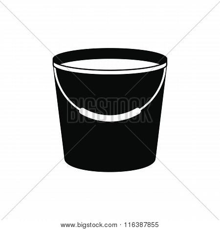 Bucket full of water icon