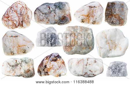 Various Marble Natural Mineral Stones And Rocks