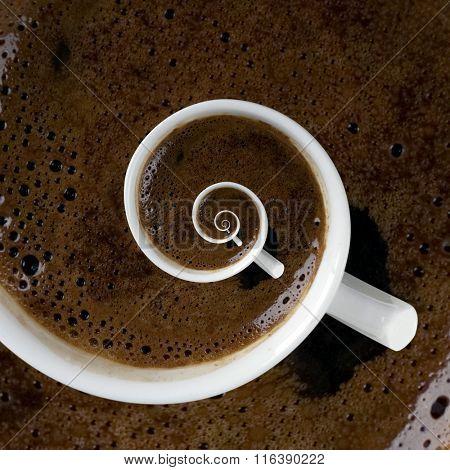 Abstract Caffeine Addiction Droste Effect