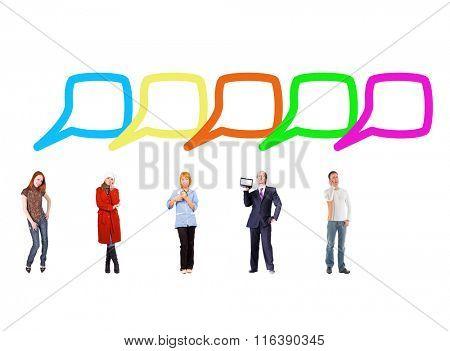Speech Bubbles Conversations in a Company