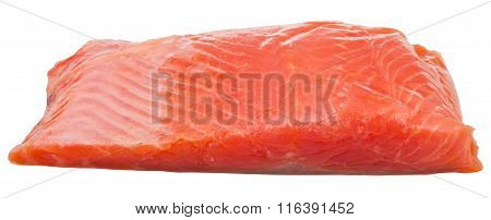 Slightly Salted Trout Red Fish Fillet Isolated