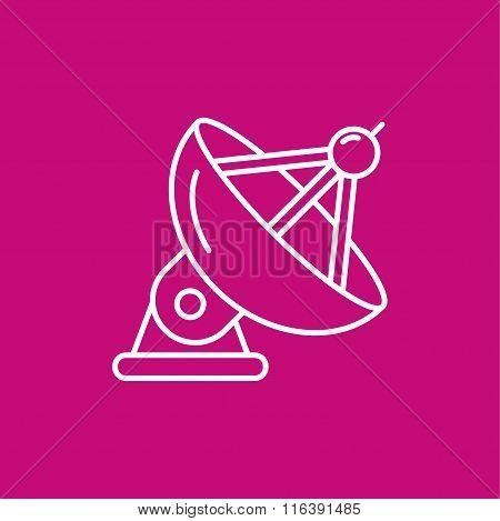 Satellite antenna icon